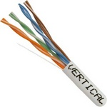 CAT5E, UTP, 1000FT, White PVC, 24AWG, Pull box, CMR