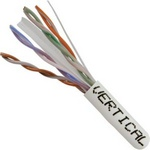 CAT 6 UTP, 1000FT, White PVC Pull box, CMR Rated