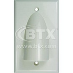 BTX-PL5199  Cust 1 gang Wht over Black Al XLR Plate loaded with 2x CA-3FDS1BRM