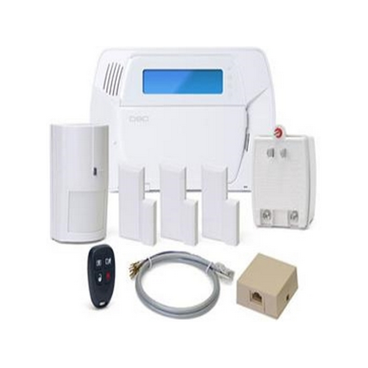 IMPASSA SELF-CONTAINED WIRELESS SECURITY SYSTEM WITH INTEGRATED HSPA (3G) CELLULAR COMMUNICATOR 1 x WS4904P WLS PET-IMMUNE DETECTOR 1 x WS4939 FOUR-BUTTON WIRELESS KEY 3 x EV-DW4975 WLS VANISHING DOOR/WINDOW CONTACTS TRANSFORMER TELEPHONE JACK AND CORD