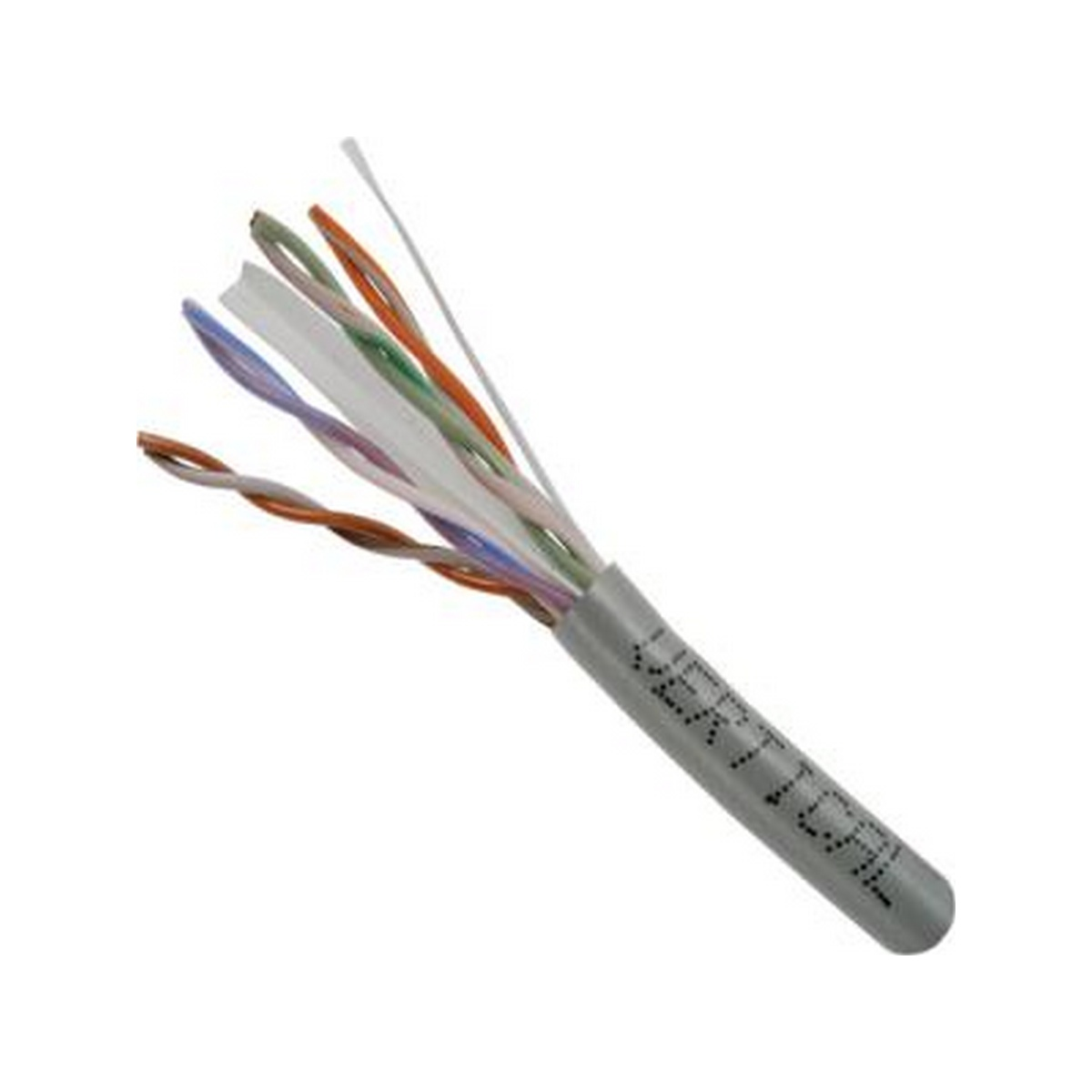 CAT 6 UTP, 1000FT, Gray PVC Pull box, CMR Rated