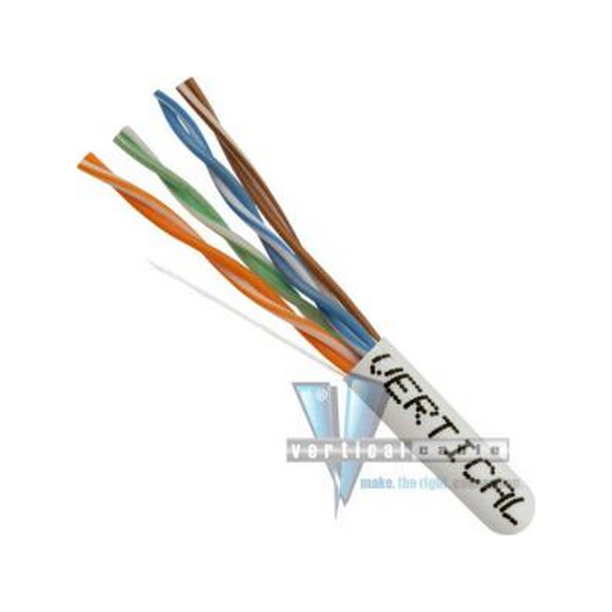 Vertical CAT6 UTP PLENUM 23 AWG TEST TO 550 MHZ 1000FT  WHITE  SPLINELESS PULL BOX  UL TAA COMPLIANT