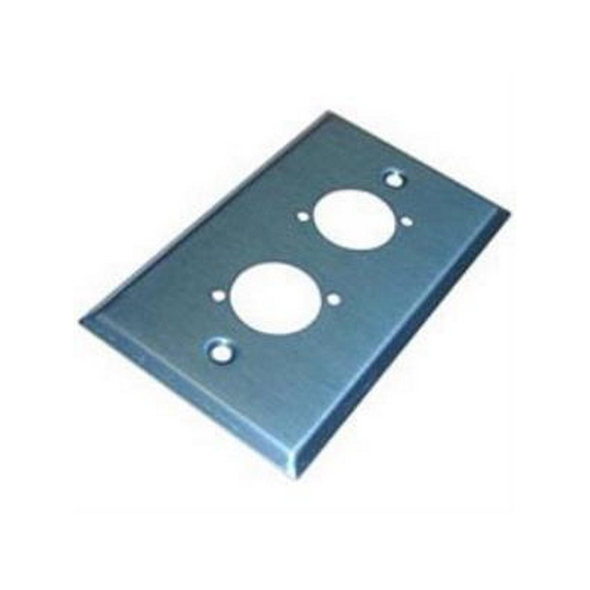 BTX-PL-203STF 1 Gang Plate w.2 BTX/Neutrik Screw Term
