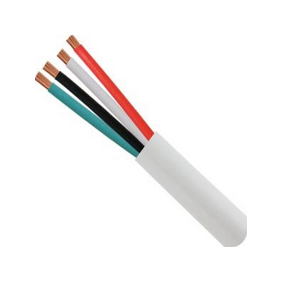 Vertical 14/4 stranded unshielded bare copper speaker wire - plenum rated - 500ft box - white jacket