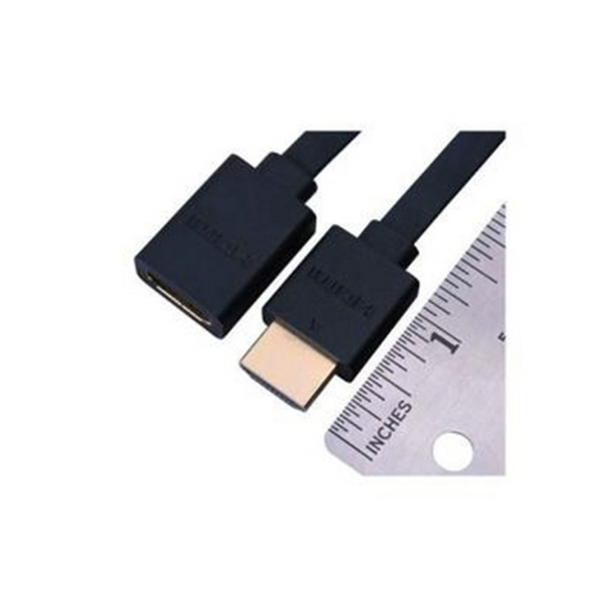 Vanco Super Flex Flat HDMI High Speed Male to Female Cable with Ethernet- Length: 6 inch.