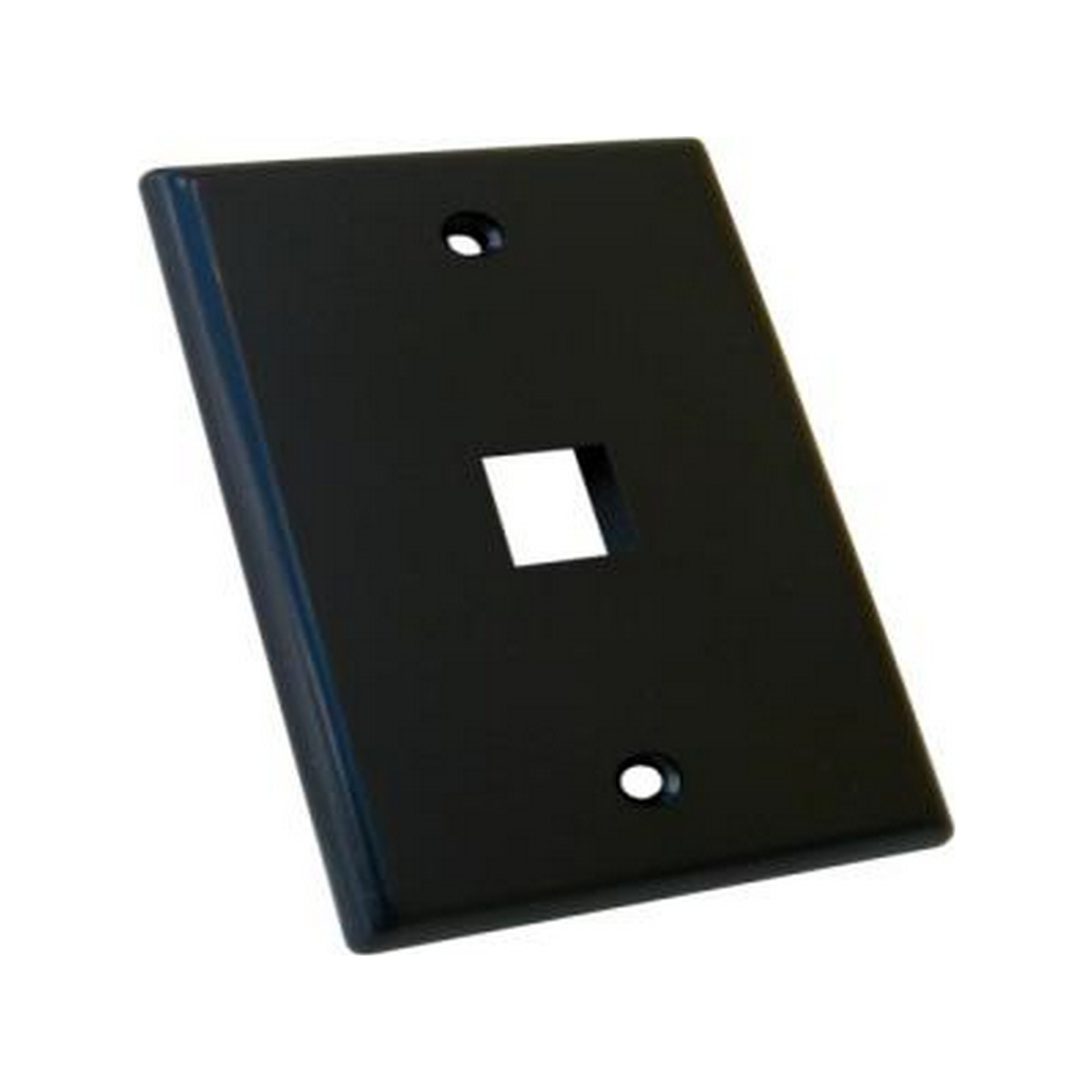 1 Port black keystone wall plate