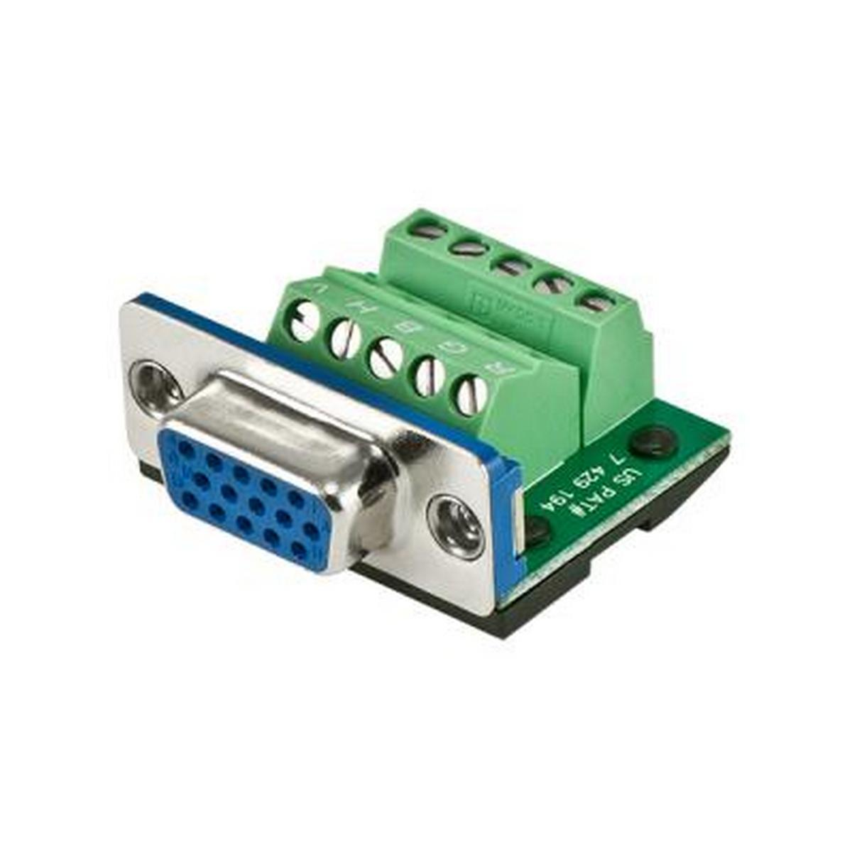 BTX CD-MX15M BTX MaxBlox HD15 Male to Terminal Block Connector.