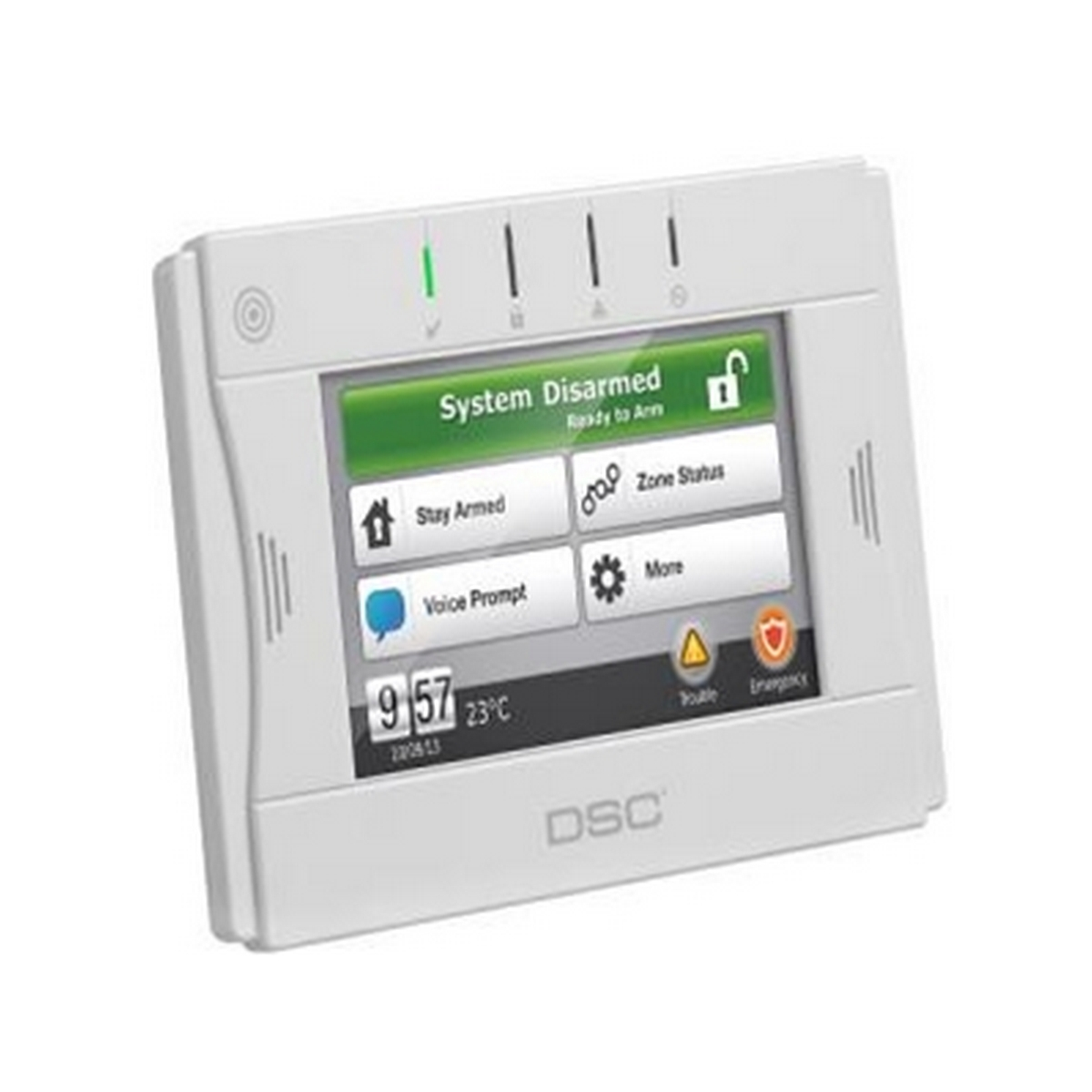 DSC WTK5504  Wireless touchscreen w/ rechargeable battery, wall mount option & xfm
