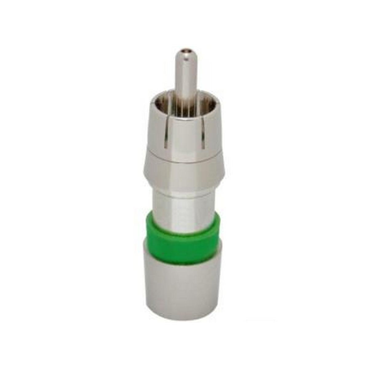 ICM FSNS6RCAU-R Snap-N-Seal ProSNS™ RG6 Universal RCA (GREEN) - SHOWROOM PACKAGING