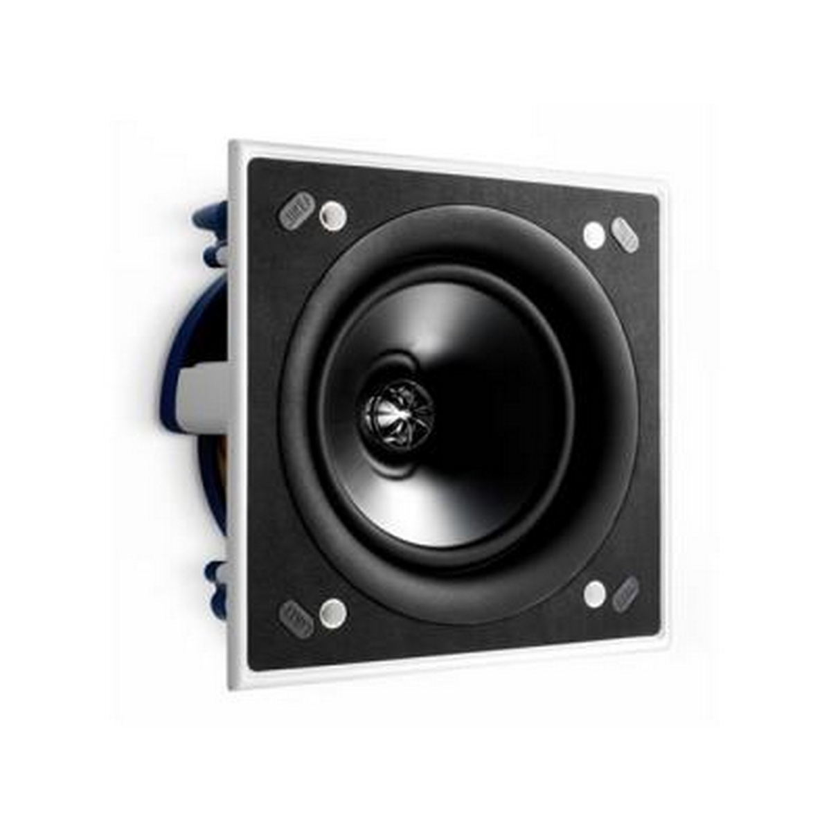 "Kef Ci160QSSquare in-wall or in-ceiling speaker featuring UTB™ Ultra Thin Bezel design. Amazingly strong magnetic grille. Features a 6.5"" Uni-Q driver array with a 1""aluminium dome tweeter and 'tangerine' waveguide"