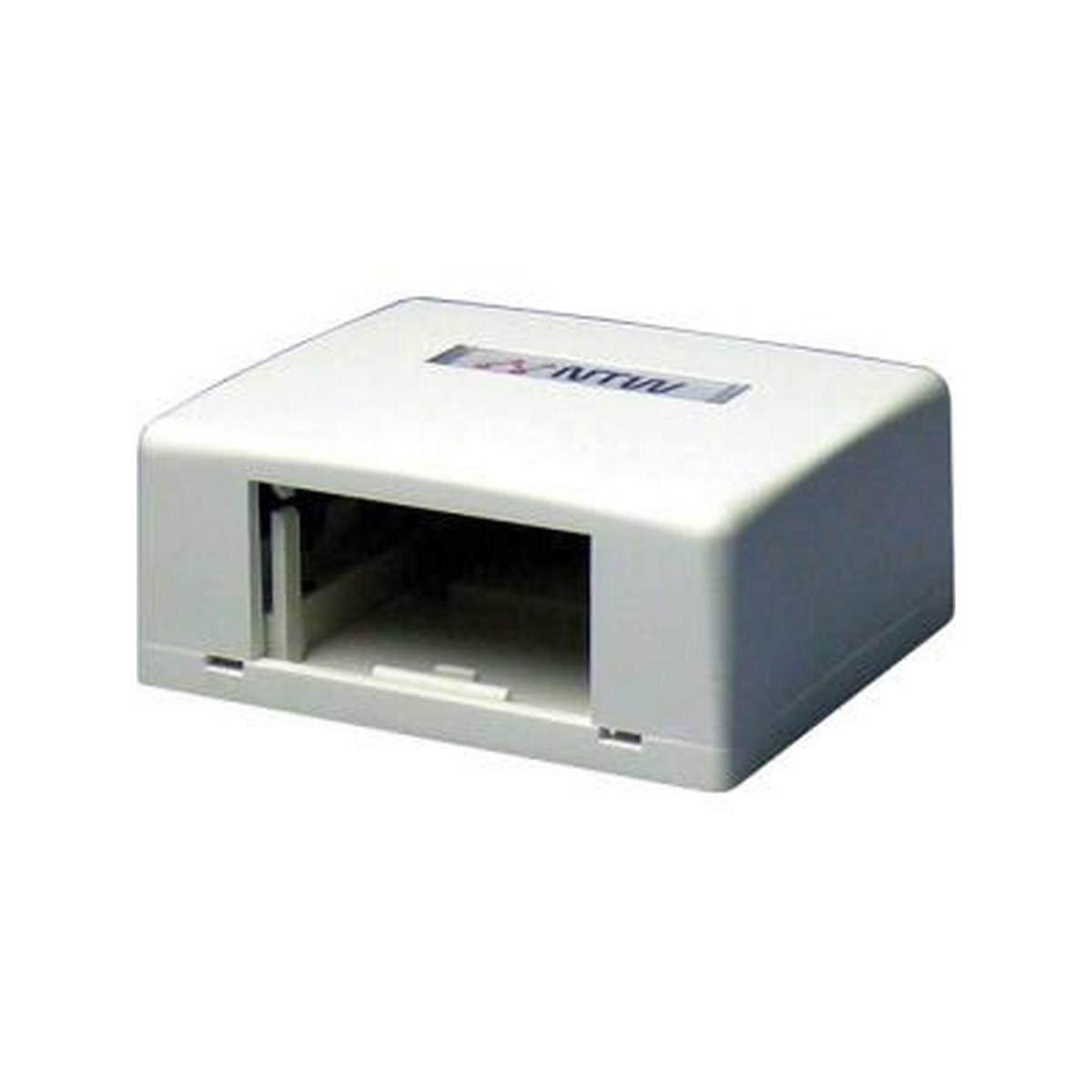 NTW 3UN-SB1W UniMedia Surface Mount Box with 1 Outlet