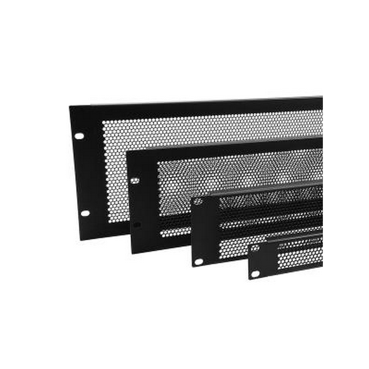 Penn Elcom R1286/1UVK Black 1 space Flanged perforated Rack Panel