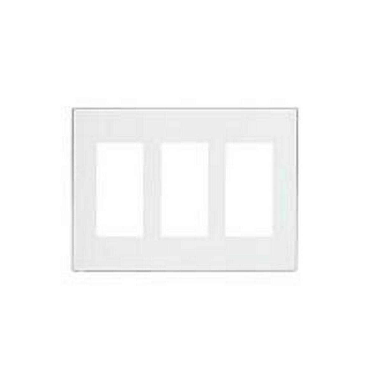 PulseWorx - Wall Switch Cover Plate, Three Gang - Screwless