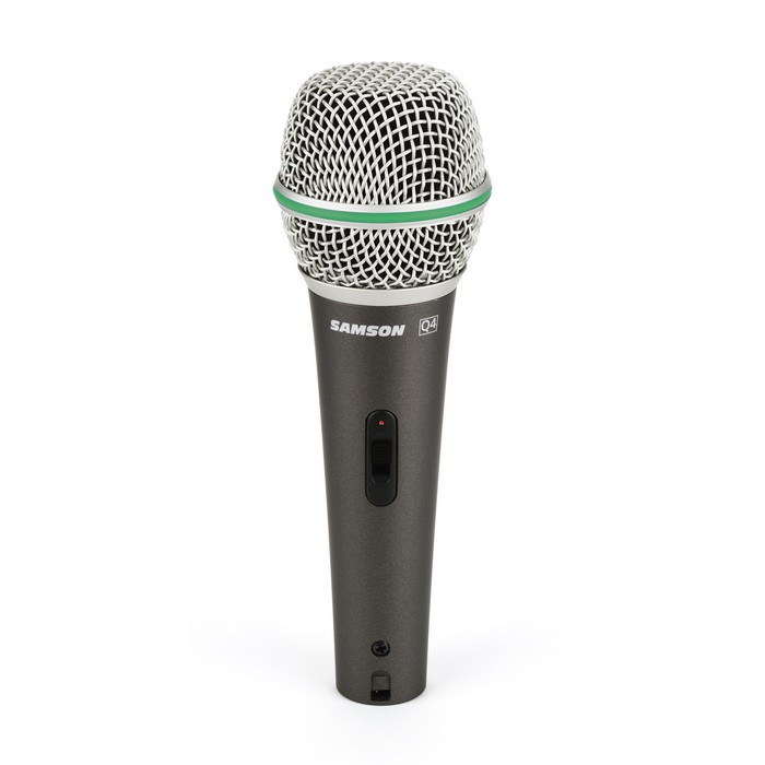Samson Q4 Dynamic Supercardioid Handheld Mic, 80Hz- 12kHz, with on/off switch, 18' XLR cable, mic clip