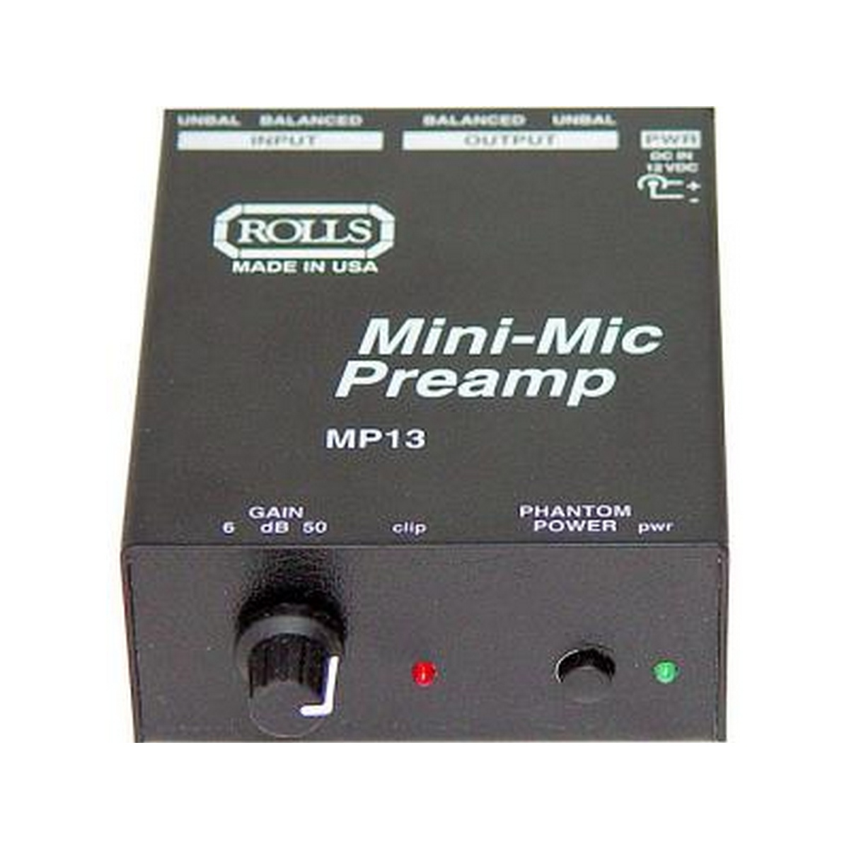 Rolls Audio MP13  Mini Single CH Mic Preamp