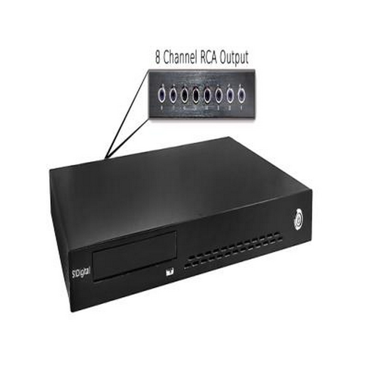 S1 Digital H8CD-Reference-4TB Eight Zone Reference Audio Server With CD Ripper & 4TB HDD Multiple Analog & Digital Outputs
