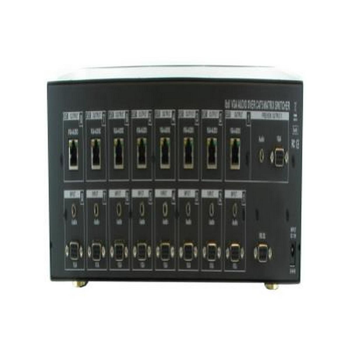 Shinybow  SB-8188CT-KIT   8x8 VGAHDTV over Single CAT5 w/ Stereo Analog Audio Matrix Routing Switcher w/ 8 Recievers