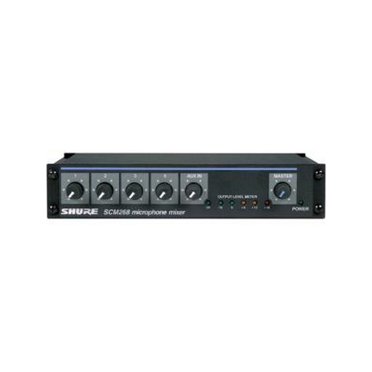 Shure FOUR-CHANNEL TRANSFORMER BALANCED MICROPHONE MIXER WITH PHANTOM POWER, AC ONLY,