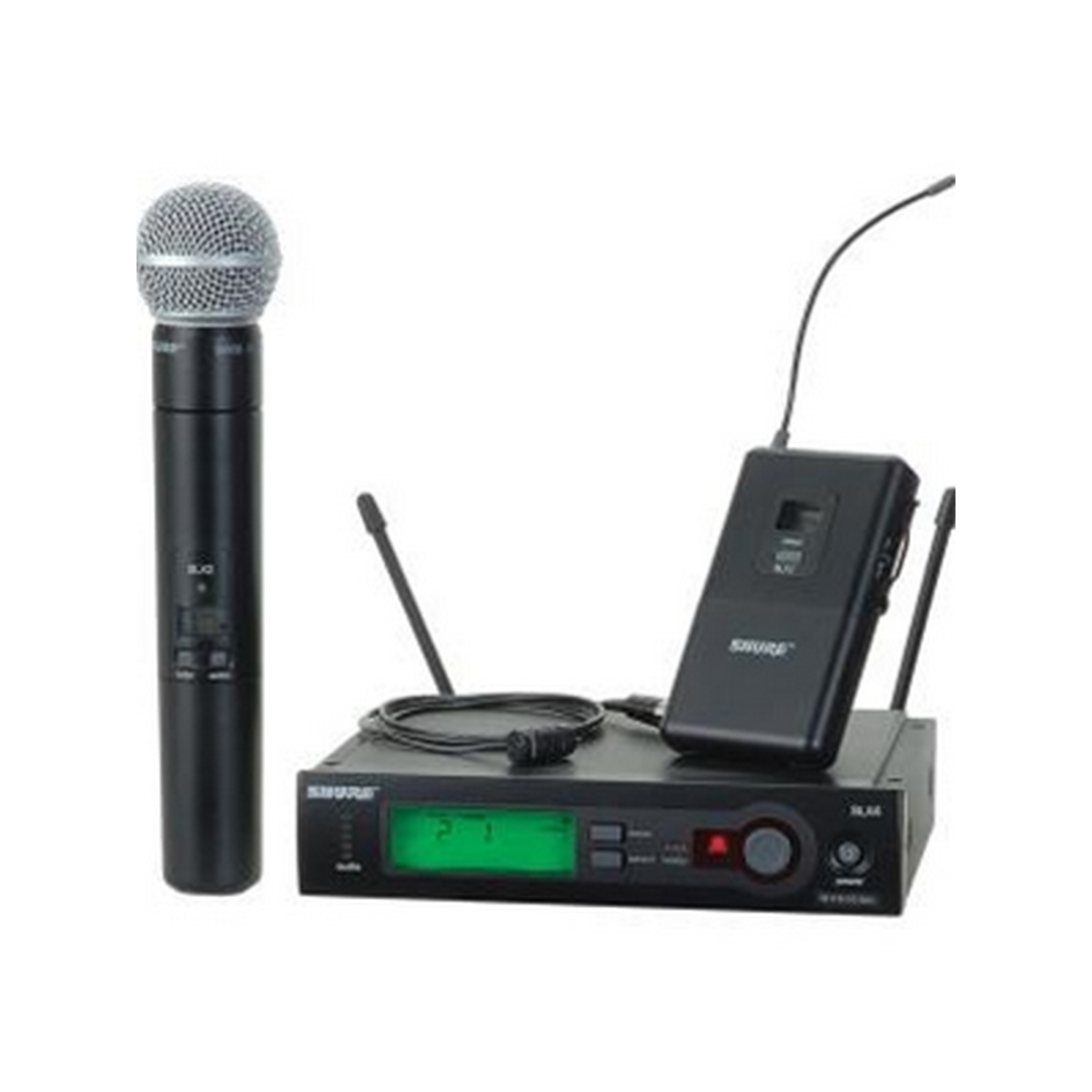 Shure SLX124/85/SM58 Combo Handheld/Lavalier Wireless System (G4 Band)