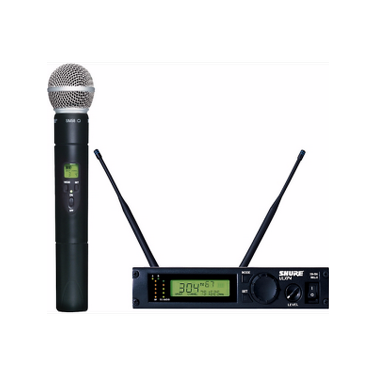 Shure ULXP24/58 Wireless Handheld Microphone System with ULXP4 Receiver & ULX2/SM58 Transmitter