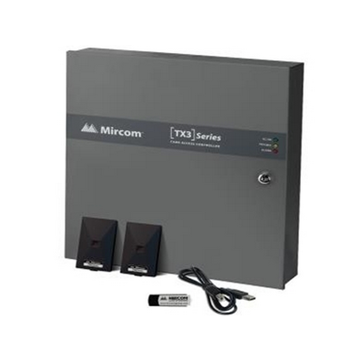 Mircom's TX3-CX-2K-A is a powerful hybrid IP and RS-485 networked two door controller that will manage up to 126 doors using the RS-485 network.