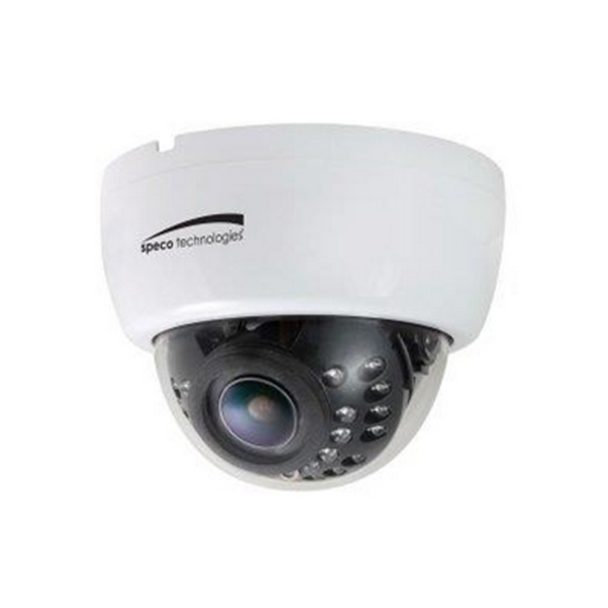 Speco HLED33D1W  960H Dual Voltage Indoor Dome Camera with Built-In IR LEDs, 2.8-12mm Lens, White Housing