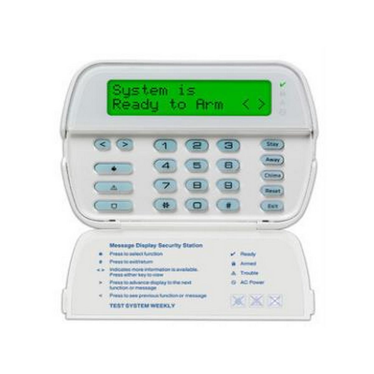 DSC RFK5501ENG  64 Zone picture icon LCD leypad w/ english function keys & built in receiver