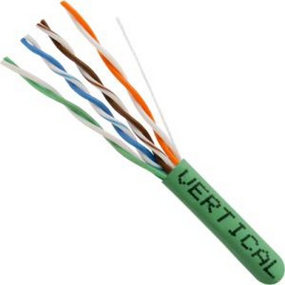 CAT5E, UTP, 1000ft, Green PVC, 24AWG, CMR