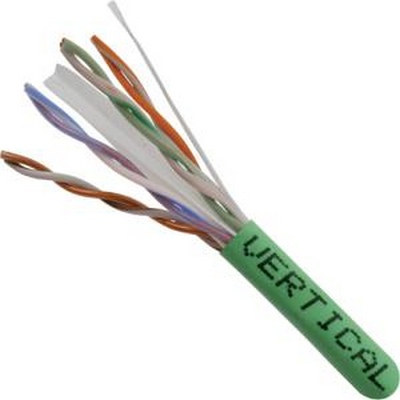 CAT 6 UTP, 1000FT, Green PVC Pull box, CMR Rated