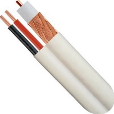 Vertical Cable 107-2324WH  RG59U W/ 18/2 Siamese, 500 FT White