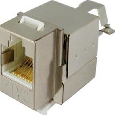 Vertical CAT6 Shielded 90 degree keystone jack