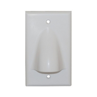 ICC 1 GANG BULK NOSE PLATE - WHITE