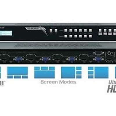 Key Digital KD-MLV4x2 4 Inputs to 2 Outputs MultiView Seamless Matrix Switcher, supports Ultra HD/4K  Ultra HD/4K Up-scaling