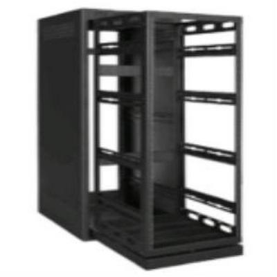 Rack-Rear Access Cover-24U, fits LHR Series, Locking/Vented, Blk