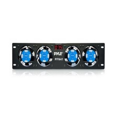 RACK MOUNT 4 COOLING FANS W/ DISPLAY