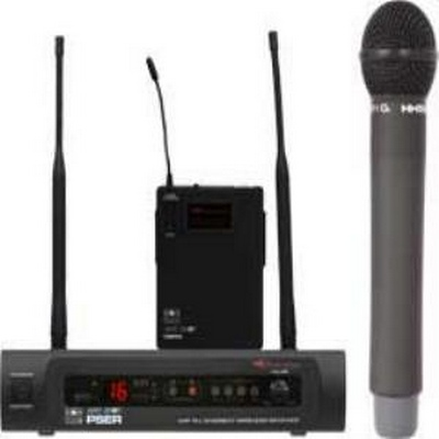 PSE/HH52 HANDHELD SYSTEM: 16 channels; includes 1 PSER Receiver, 1 HH52 Dynamic Mic/Transmitter, rack ears