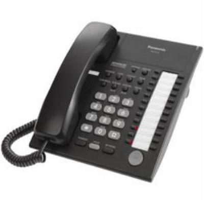 Panasonic KXT7720B ANALOG PROPRIETARY TELEPHONE (NO LCD, 24 CO BUTTONS, SP-PHONE) (BLACK)