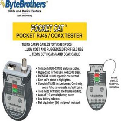 Byte Brothers CTX200 Pocket CAT-CAT5/6-Coax Testet