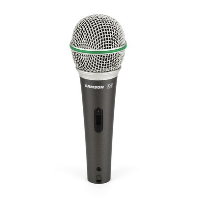 Samson Q6 Dynamic Supercardioid Handheld Mic, 50Hz- 15kHz, with on/off switch, 18' XLR cable, mic clip