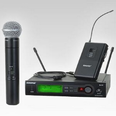 SHURE SLX WIRELESS KIT WITH HANHELD SM58 STYLE MIC