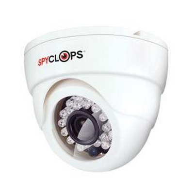 Spyclops MINIDOME, CCD, WHT, PLASTIC