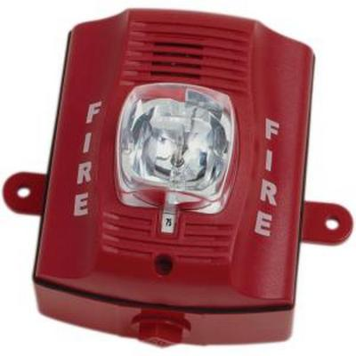 System Sensor P4RK  4 Wire horn strobe wall mount outdoor red