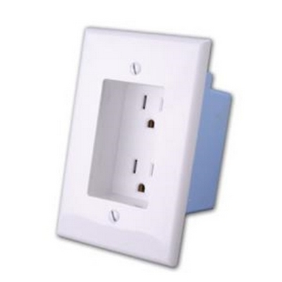 Vanco 168924-WH RAPID LINK AC DUAL OUTLET WHT
