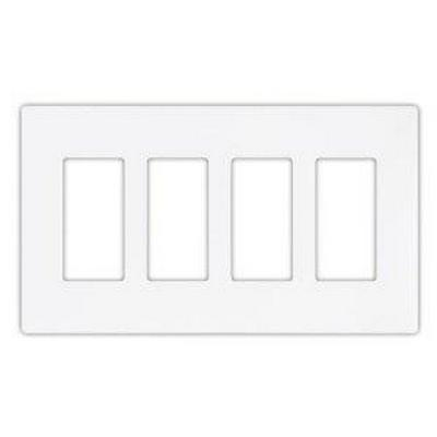 PulseWorx - Wall Switch Cover Plate, Four Gang - ScrewlesS