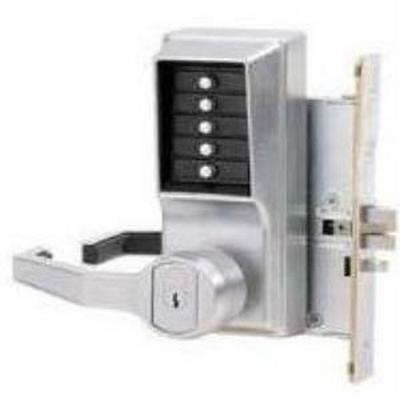 Kaba L8146B-26D-41  Mortise Lever LH w/ key bypass satin chrome