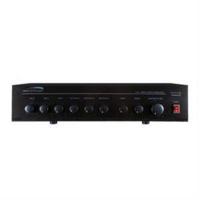 Speco PMM120A 120W PA Mixer Power Amplifier with 6 Inputs